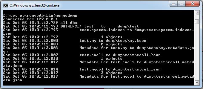 MongoDB数据备份